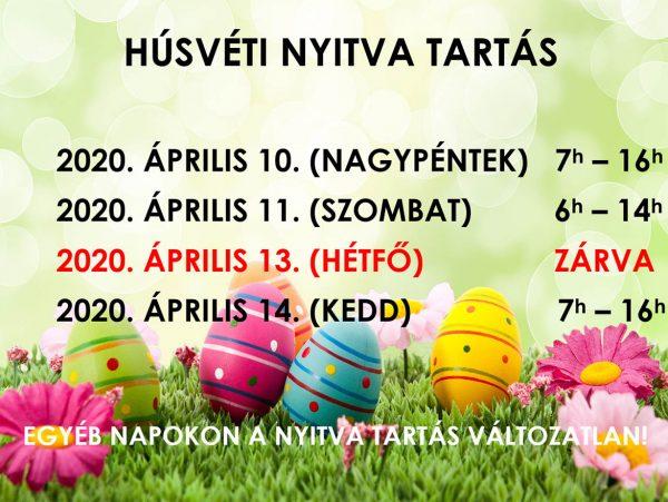 Húsvéti nyitvatartás 2020